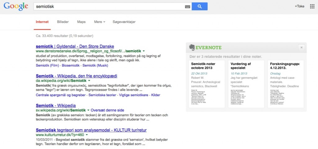 google-evernote integration